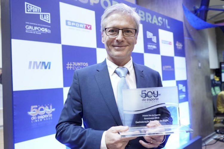 Pelo quinto ano seguido, CBRu é reconhecida pelo Prêmio Sou do Esporte