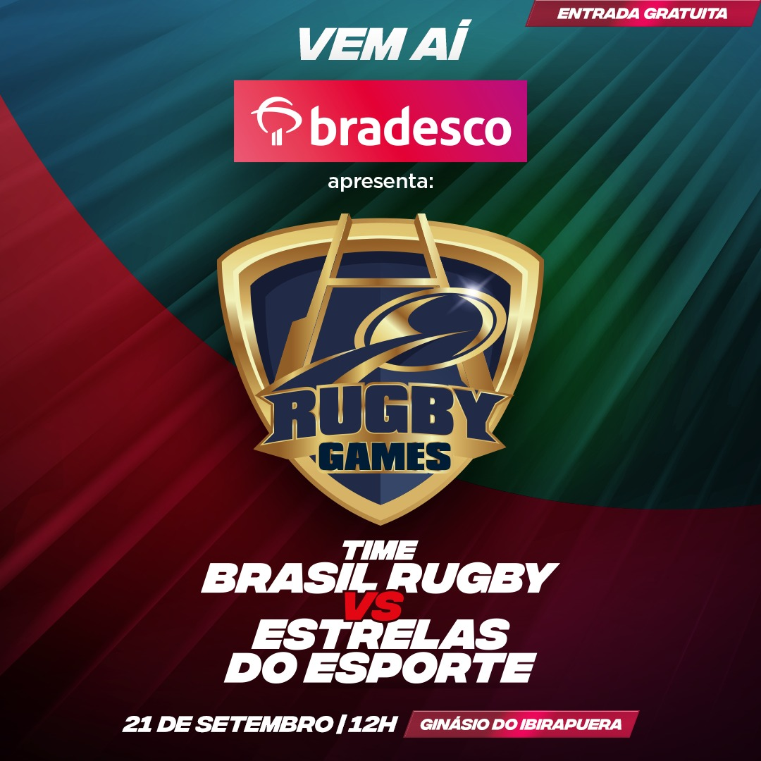 Com Belletti e Milene Domingues, Bradesco apresenta Rugby Games, evento que testa a habilidade de atletas de diferentes modalidades no rugby