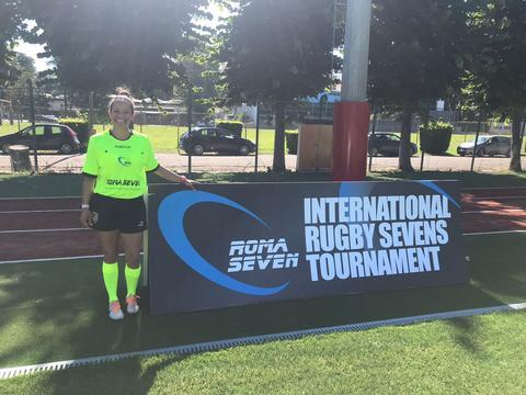 Nayara Lima, árbitra brasileira representa o Brasil no torneio Roma Sevens 2018