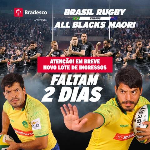 3º Lote de ingressos para Brasil X All Blacks Maori, inicia nessa quarta -feira, dia 17/10